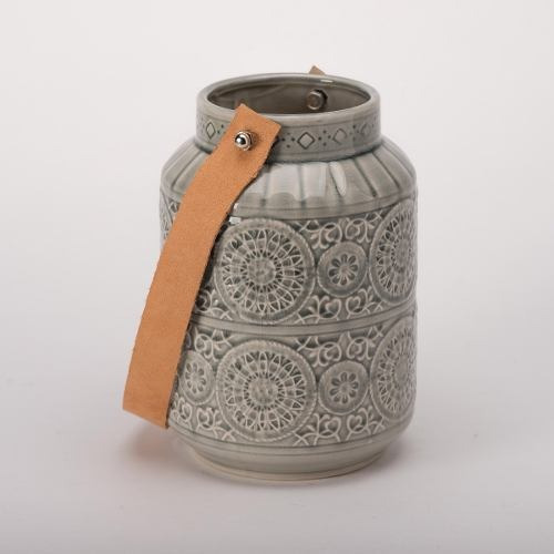 Imagen 1 de 4 de Candelero Ceramica Verde Gd - Verde Këssa Muebles