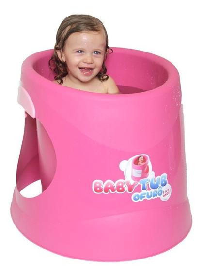 Banheira Baby Tub Ofurô (6 Anos) Assento Ergonômico - Rosa