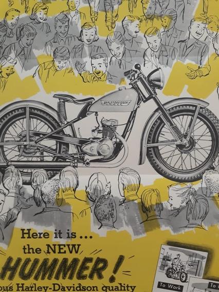 Folder Folheto Propaganda Especificaç Harley Davidson Hummer