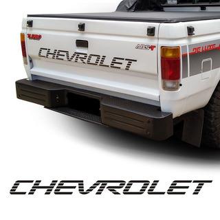 Adesivo Chevrolet Faixa Traseira D20 Preto Modelo Original