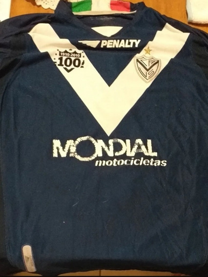 Camiseta Velez Sarsfield Centenario Azul Manga Larg C/numero