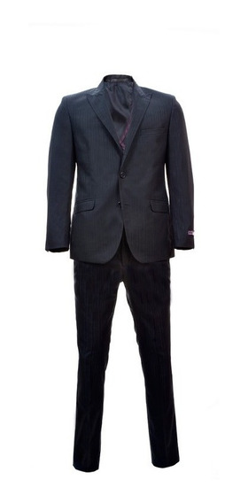 Traje Slim Fit Para Hombre Bruno Corza Color Azul Marino