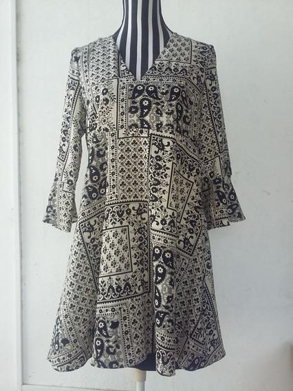 Vestido De Futura Mamá, Made In Espain, Estampado, T: M/l