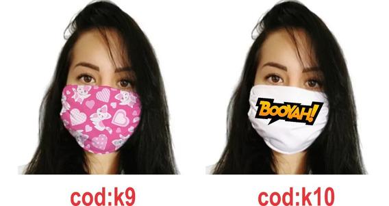 Máscara Tecido Lavável Gabar Com Algodão-elástico 25 Unid