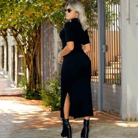 de743dbb1 Vestido Tubinho Preto Marca Famosa - Vestidos Longos Femininas no ...