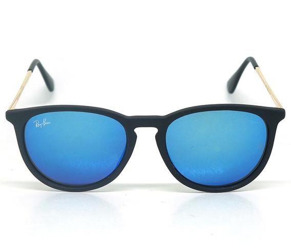 Óculos De Sol Ray-ban Preto E Azul