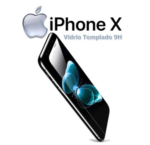 Protector: Vidrio Templado 9h - Para iPhone X