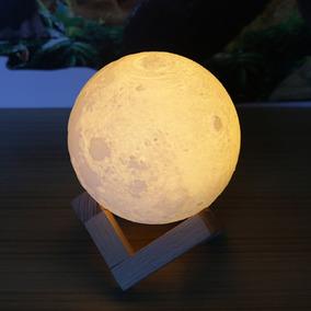 Colorido 3d Impressão Lua Lamp Quarto Cabeceira Casa Decora