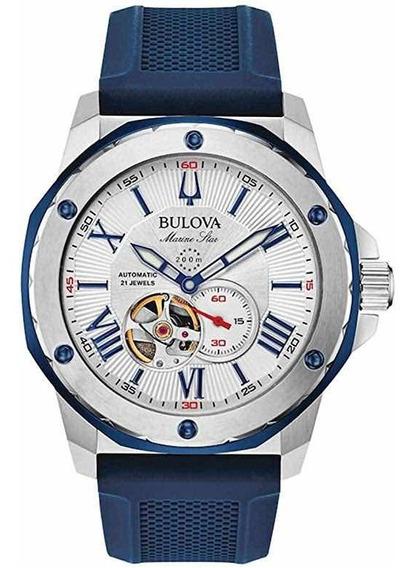 Relógio Bulova Marine Star Automático 98a225 Novo Original