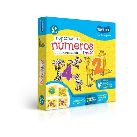 Quebra Cabeça 20peças Montando Os Números - Toyster
