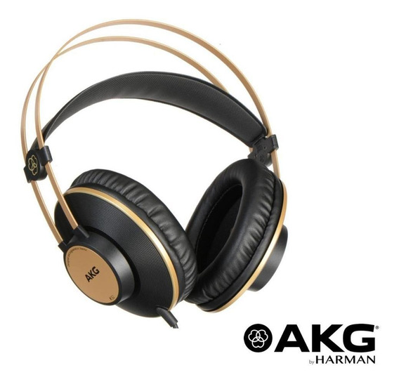 Fone De Ouvido Akg K92 Closed-back Original Adaptador P2/p10