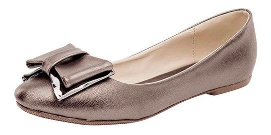 Been Class Zapato Piso Gris Sint Moño Mujer C92209 Udt