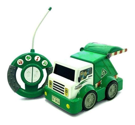 Carrinho De Controle Remoto Garbage Truck Junior Racers