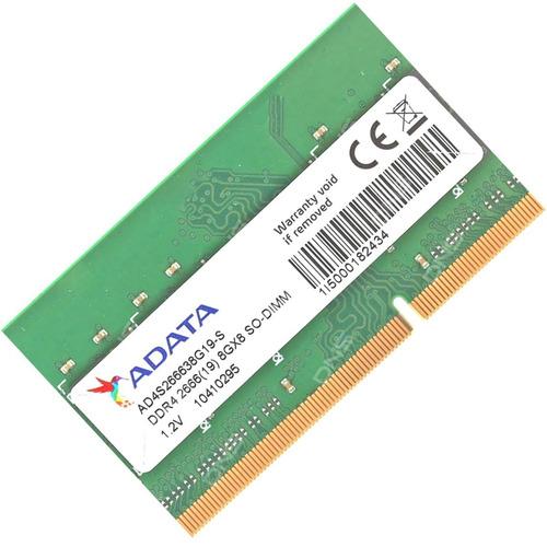Imagem 1 de 3 de Memória Notebook 8gb Ddr4 2666 Mhz Adata Ad4s266638g19