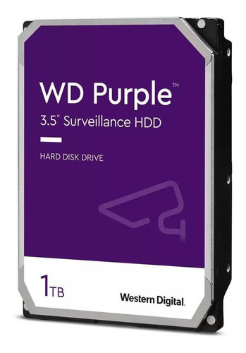 Imagem 1 de 4 de Disco rígido interno Western Digital WD Purple WD10PURZ 1TB roxo