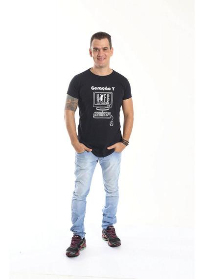 Camiseta Long Geração Y Unissex
