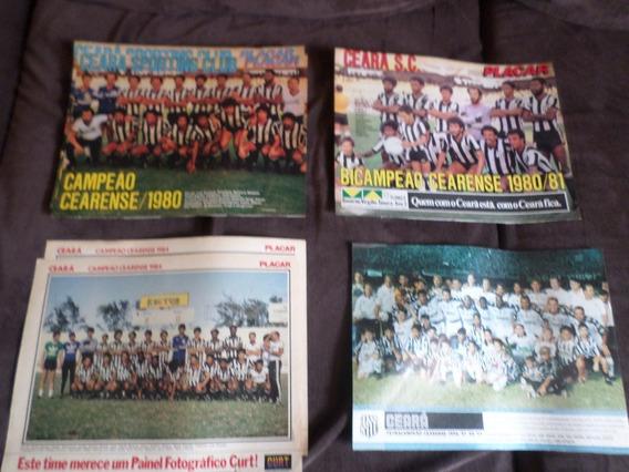 Ceará Coleção 4 Posters Campeão Fortaleza Placar Futebol