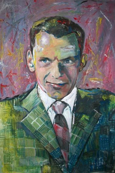 Frank Sinatra Jazz ! Arte Orig Marcelo Neira Tiempodeshow