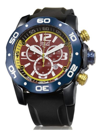 Relógio Pulso Everlast Masculino Azul Cronografo E431