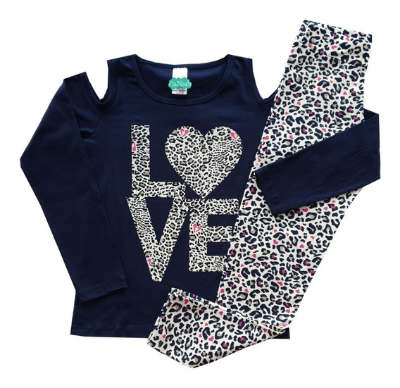 Roupas Femininas Kit Com 4 Conjunto Infantil Menina Juvenil