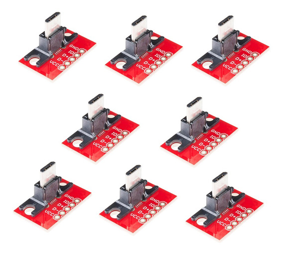 8 Peça Usb Micro Plugue Saia Módulo Para Adaptador Conselh