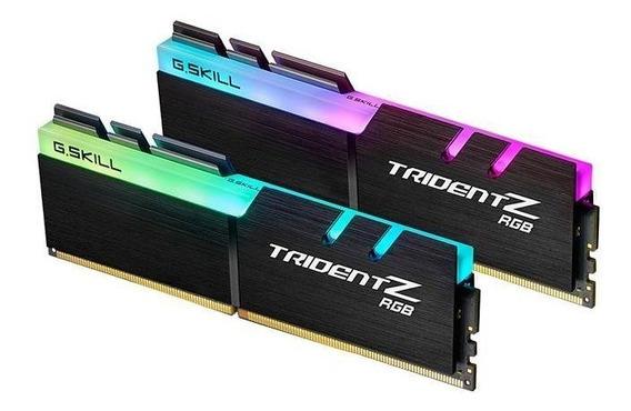 Memoria Ram 32gb G.skill Tridentz Rgb Series (2 X 16gb) 288-pin Ddr4 Sdram Ddr4 3200 (pc4 25600) Modelo F4-3200c14d-32gt