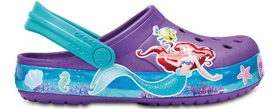 Crocs Crocband Fun Lab Clog Princess Ariel Rosa Nene Nena
