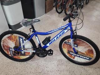 Bicicleta Milano - Rodado 24 - 18 Velocidades