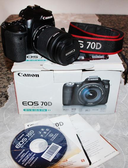 Canon 70d + Lente 18-55 Mm