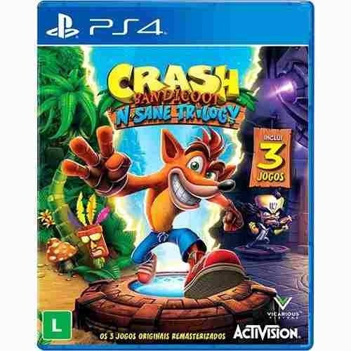Jogo Crash Bandicoot N-sane Trilogy Playstation 4 Ps4 Novo