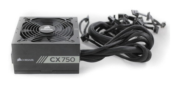 Fonte Corsair Cx750 750w Pc Gamer 80 Plus Bronze