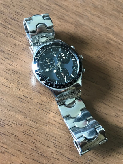 Relogio Swatch Irony Black Cronograph