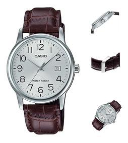 Reloj Casio Hombre Mpt-v002l Correa De Cuero |watchito|