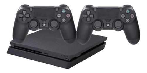 Sony PlayStation 4 Slim 1TB Extra DualShock 4 Controller jet black