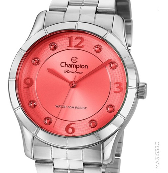 Relógio Champion Prateado Feminino Cn29909v + Nota Fiscal
