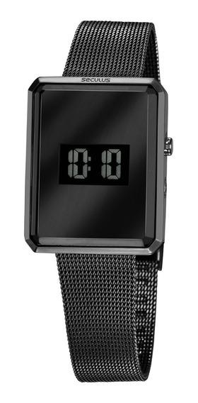 Relógio Feminino Seculus Digital 77061lpsvps2 Preto C/ Nf-e
