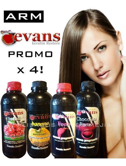 Promo Alisados Evans X 4 A Eleccion!!! Envio Gratis