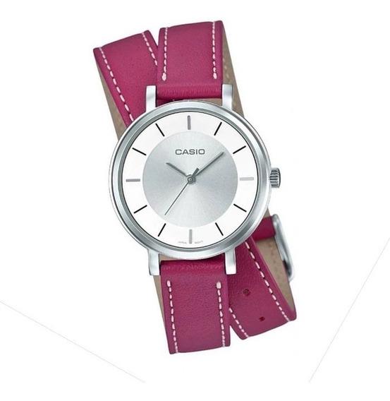 Relógio Casio Feminino Analógico Rosa Ltp-e143dbl-4a1dr Nf-e