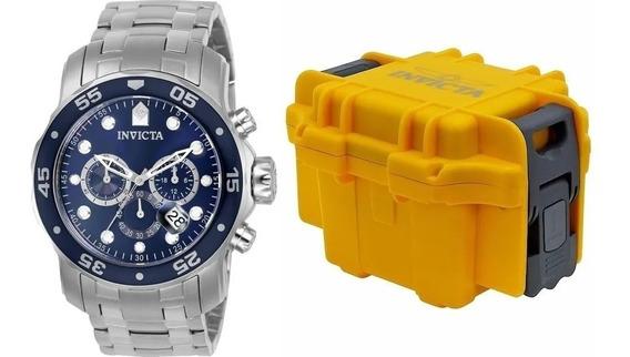 Relógio Invicta Pro Diver 0070 Original Aço Prata 12 Vsj