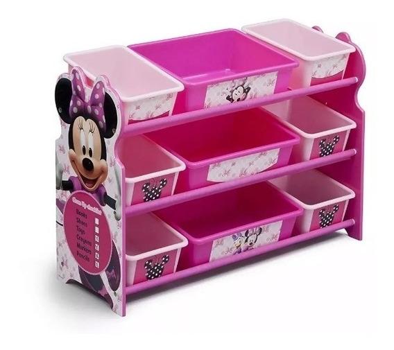 Organizador De Juguetes Rosa Minni Mouse Disney Juguetero