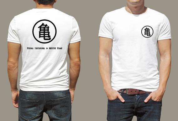 Dragon Ball Camiseta, Escola Tartaruga Do Mestre Kame