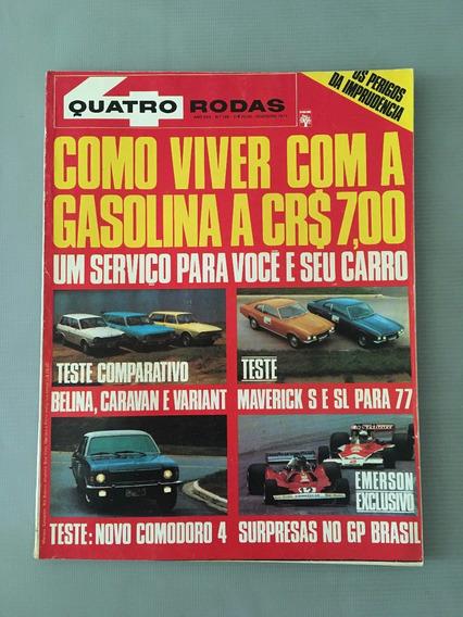 Revista Quatro Rodas - Fevereiro 1977 - Nº 199