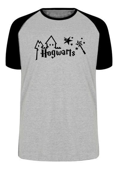 Camiseta Blusa Plus Size Hogwarts Harry Potter Varinha Estre
