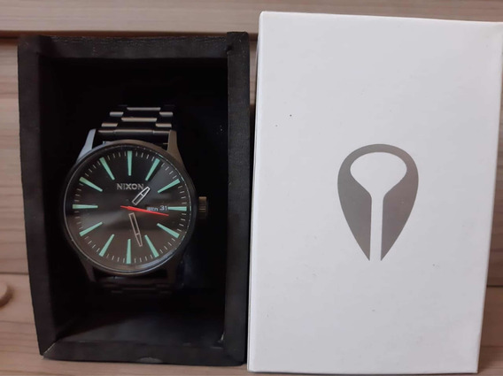 Relógio Nixon Sentry Ss Original, 42mm - All Black/silver