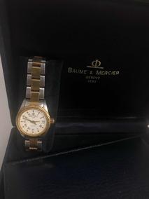 Relógio Baume Mercier Feminino Dourado Prata Original