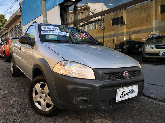 Fiat Strada 1.4 Hard Working Flex Completa 2p Prata - 2018