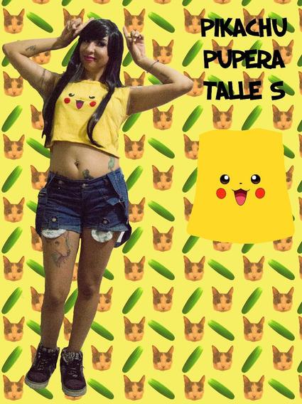 Remera Pupera Corta Pokemon Mujer - Pikachu
