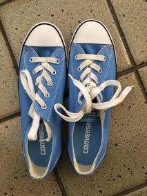 Tênis Converse Azul Usado Uma Vez Tam. 35