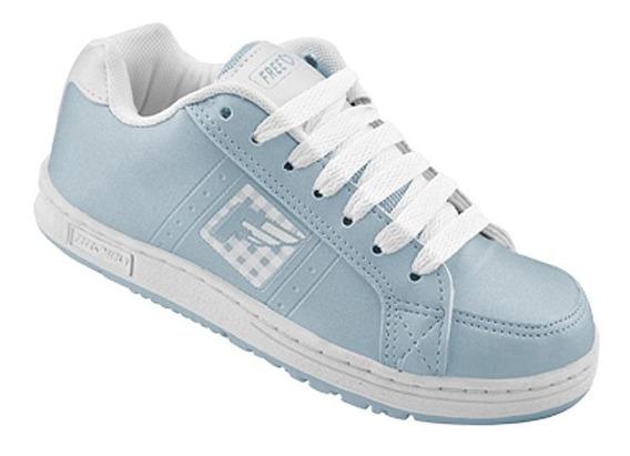 Tenis Freedom Feel Azul E Branco - K448