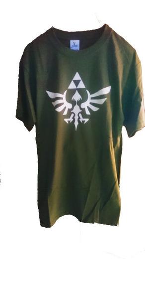Playera Camiseta The Legend Of Zelda Link Trifuerza